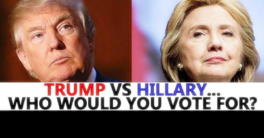 Trump v Hillary - who do you vote 4