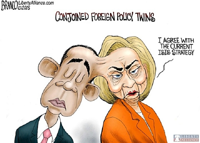 BHO-Hillary conoined foreign policy toon