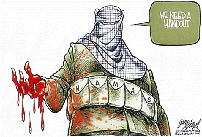 Bloody Hamas Handout Demand toon