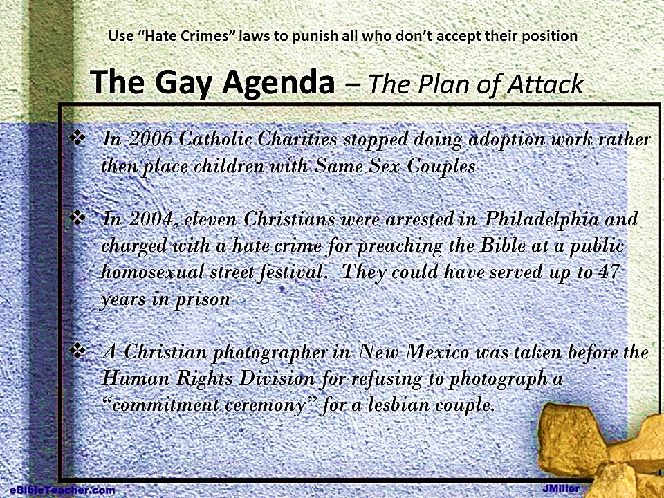 from Bruno gay agenda