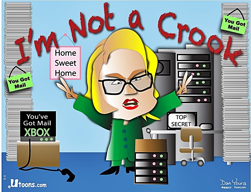 I'm Not Crook Hillary toon