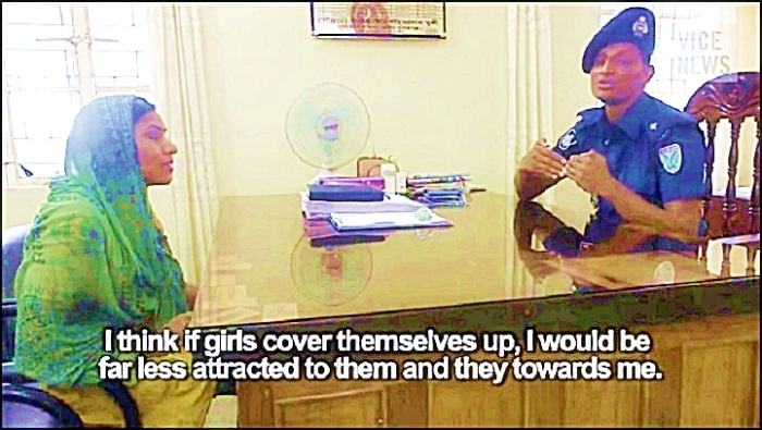 Lady Interview with Muslim police on gang rape