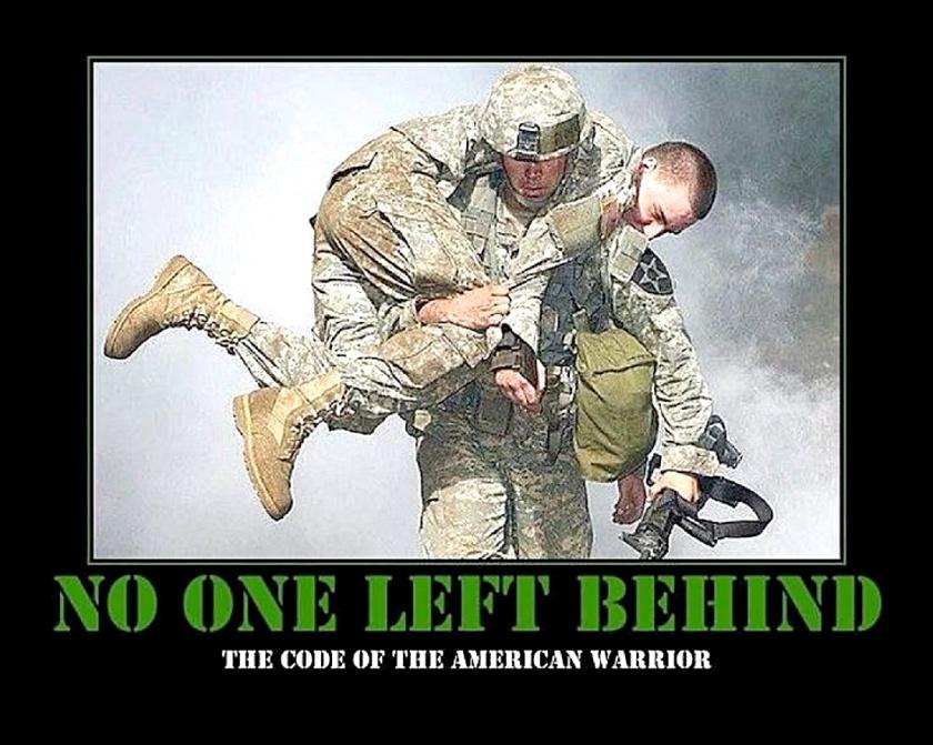No-1 Left Behind soldiers