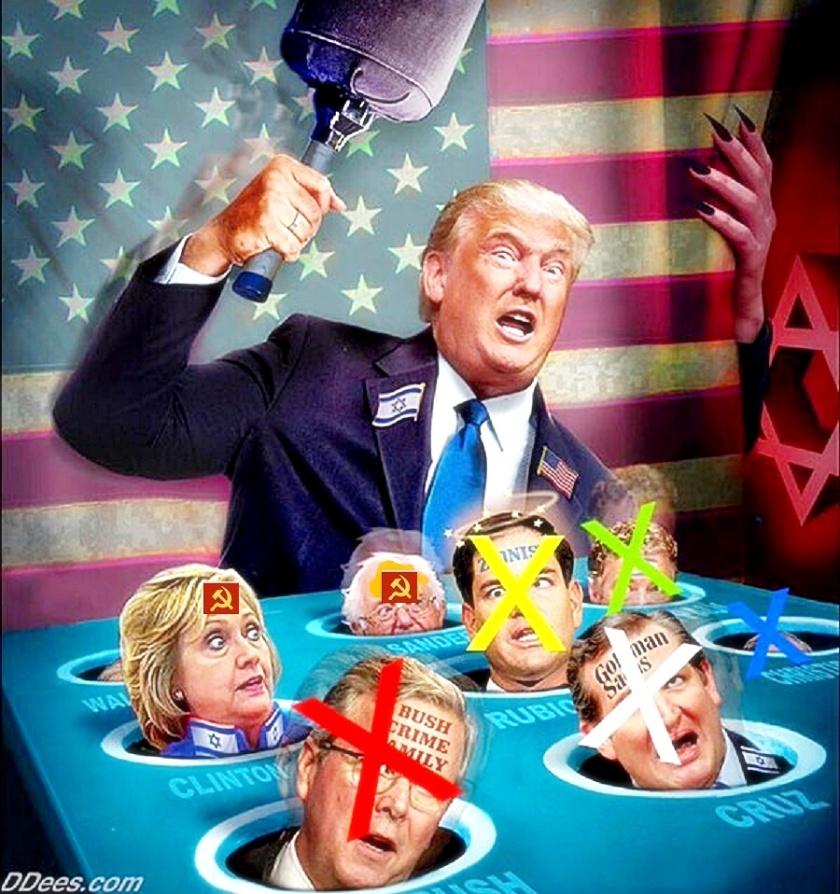Trump wack-a-mole game