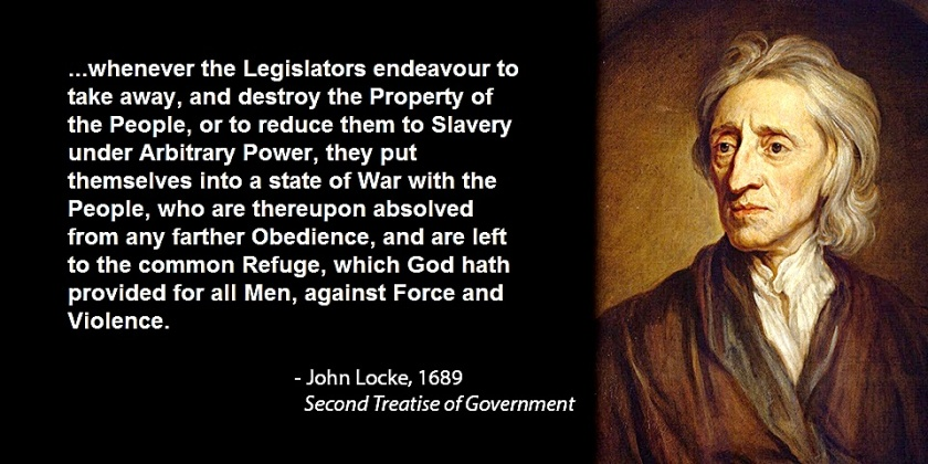 2nd Treatise of Govt. John Locke 1689 quote