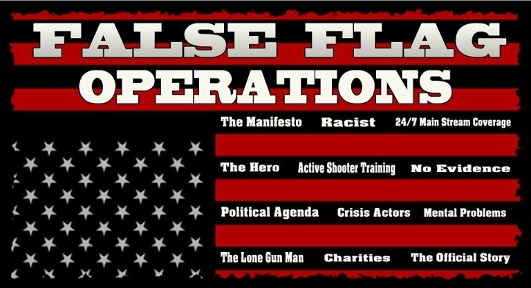 False Flag Opersstions - US in distress flag