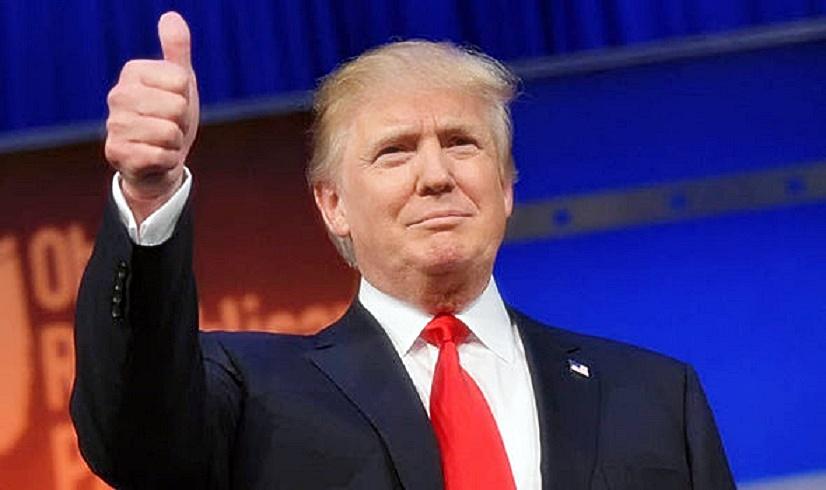 Trump thumbs-up