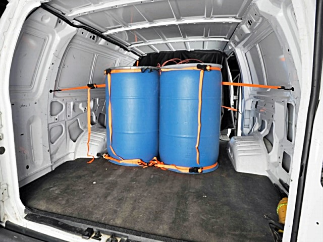 Van Loaded with Explosives