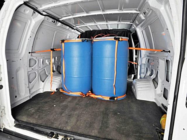 Van Loaded with Explosives
