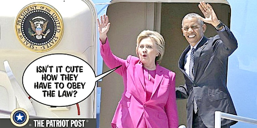 Hillary-BHO mock voters for obeying law