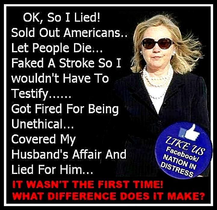 List of Why Hillary Lies Matter