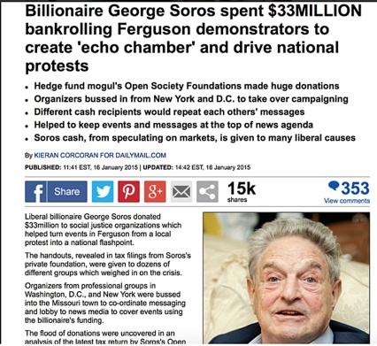 Soros spent 33 Million on BLM-Ferguson