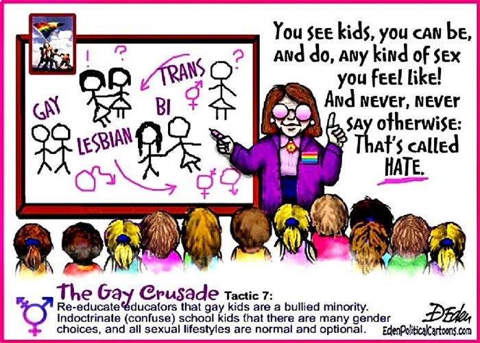 Gay Agenda Brainwashing Children