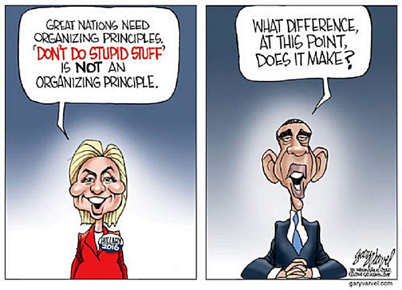 Hillary Clinton is putting some distance between herself from President Obama's foreign policy. However, her own comments may come back to haunt her.