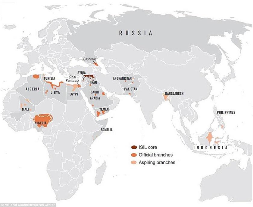 Islamic State Global Map