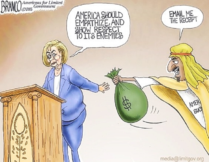 Nuslim bribes Hillary toon