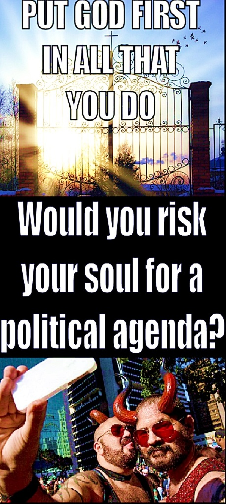 Would U Risk Soul for Gay Agenda