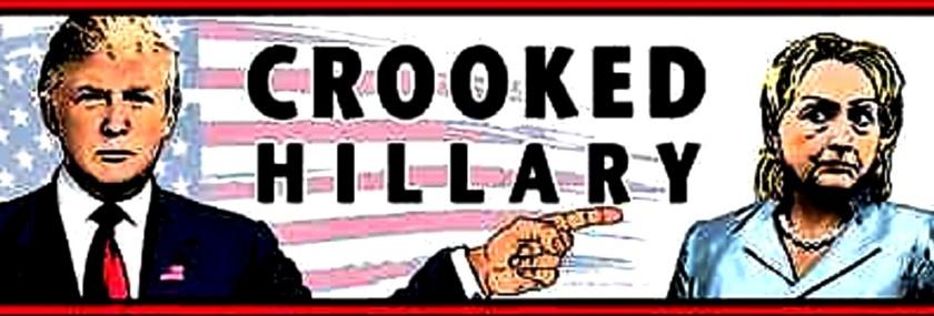 Trump vs Crooked Hillary toon