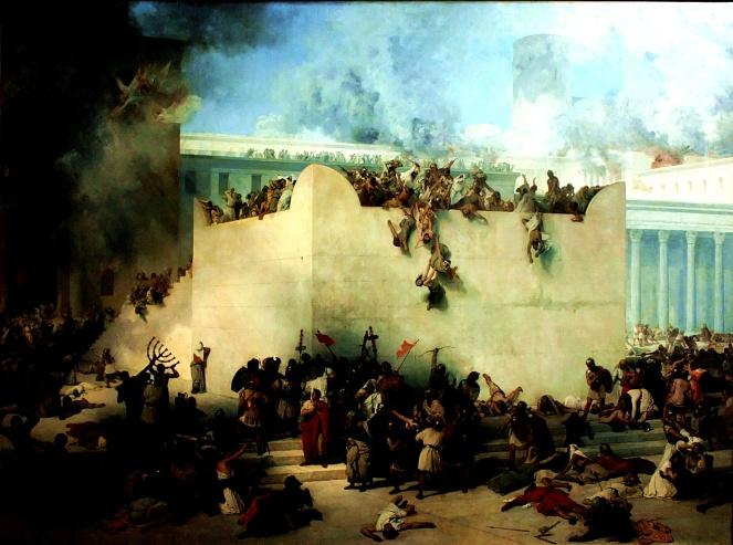 roman-destruction-of-2nd-temple-by-francesco_hayez
