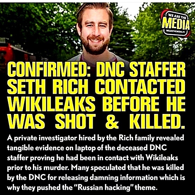 Seth Rich Leaked 2 Wikileaks-- Shot & Killed
