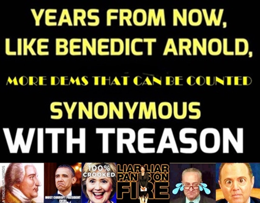 Benedict Arnold Years From Now - More Dems can be Counted as Traitors